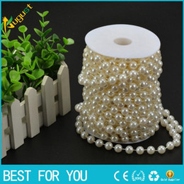 Wholesale Pearls Crystal Curtains - New hot Free shipping 20m high quality ABS wiring bead imitation pearls DIY pearl curtain romantic wedding decorative background