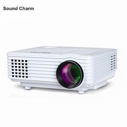Wholesale home theater sound - Wholesale- Sound charm HD Projector mini LED digital Video TV LCD Proyector native 800x480 HDMI USB Home Theater Projektor Beamer