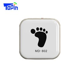 Wholesale Hyundai Gps - MD802 Ultra Thin Mini GPS Tracker Portable Personal Locator GPS+ AGPS+LBS+Wifi Geo-fence Real-time Call Tracking for Kids Car Vehicle