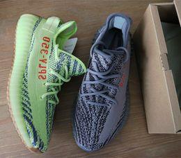 Wholesale Shoes Wave Man - Kanye west SPLY 350 V2 boost Semi Frozen Yellow Zebra sneakers B37572 Beluga 2.0 bred Men Women Running Shoes 700 wave Runner