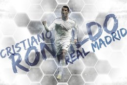 "Wholesale People Football - Cristiano Ronaldo Soccer Football Print Large Silk POSTER 36""x24"" 014"