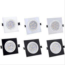 iluminación empotrada cuadrada casa Rebajas Foco empotrable de luz led para el hogar foco de iluminación AC85-265V downlight empotrado 3W / 5W / 6W / 7W / 9W / 10W / 14W / 15W / 21W Iluminación interior