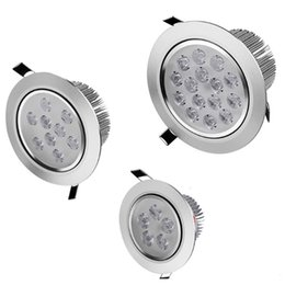 Wholesale Dimmable Recessed Lights - 9W 12W 15W 21W 27W 36W Dimmable Led Down Lights CREE Led Recessed Downlights AC85-265V panel light Warm Pure Cool White CE ROHS