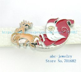 Wholesale Dog Reindeer - 5pcs 8mm Christmas Reindeer sleigh wholesales price Internal Dia.8mm fit 8mm wristband belt keychain dog collar bracelet SL428