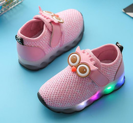 Wholesale Girl Shoes Size 31 - 2017 spring Autumn Children Sport Shoes Baby Boys Girls Led Luminous Shoe Kids Sneakers Breathable Running Shoes Size 22-31