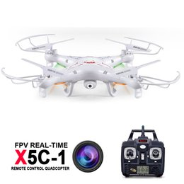 Wholesale Wholesale Professional Rc - Syma X5C-1 Professional Dron RC quadcopter With Camera 2MP HD 4CH Flying Camera Drone Helicopter Remote Control Hexacopter Toys