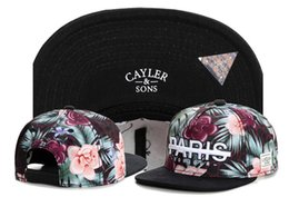 Wholesale Snapbacks Paris - 2016 Cheap Cayler & Sons snapbacks Flowers Paris snap back caps hiphop hats sport caps For man and woman
