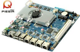 Wholesale Fanless Server - Network Security fanless 4 lans motherboard with onboard 4GB ram Atom D2550 router mainboard VGA 12v dc board for Server,