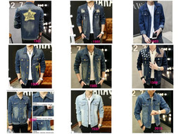 Wholesale Draped Hoodie - Freeshipping Men's Hoodie Jeans Jacket coat outerwear hooded Winter coat hoodie denim jacket coat c