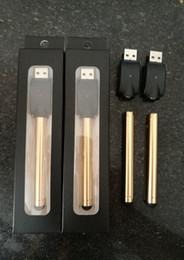 Wholesale Golden Wax - Bud Golden O Pen CE3 Vape Touch Battery Automatic 280mah E-Cigarette Wax Oil Gold-plated Pens 510 for CE3 Vaporizer Tank DHL