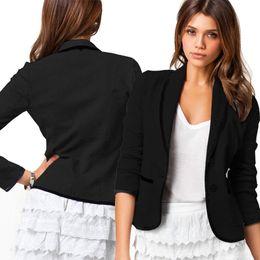 2019 bolero de lantejoulas da marinha Europeu 2016 blazer mulheres terno blazer jaquetas dobráveis de algodão spandex com forro Vogue atualizar blazers Frete grátis