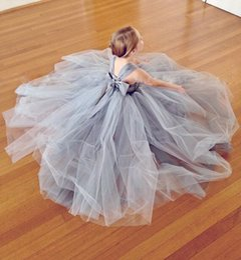 Wholesale Girls Christmas Dresses Size 14 - 2018 Flower Girl Dresses Tutu Silver Grey Tulle Ball Gown Hot Sale Daughter Party Little Girl Dress Child Size 2-14 Custom Make