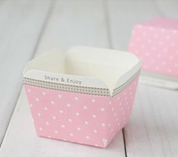 Wholesale Cheap Cake Cupcake Boxes - Free shipping cheap cupcake boxes, wholesale small pink dot muffin edible cake cup liners case containers holder decorations