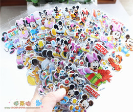 Wholesale Minnie Stickers - Wholesale- 6 sheets set Mickey Minnie 3D stickers for kids Home wall decor on laptop cute Gifts for the children in the party supplies