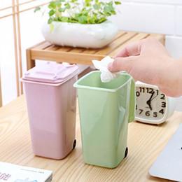 Wholesale Trash Can Box - 8.5*10*15.5cm Portable Mini Dustbin Cute Small Gabage Can Kids Rubbish Bin Trash Storage Box