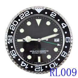 Wholesale Modern Metal Clock - Luminous wall clock Combination Separates Body Material Metal Luxury Brand Antique Digital Wall Clock Watch Type Black with Date & Luminova