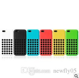 Wholesale Iphone 5c Silicon Dots - Colorful Case Dots Back Cover Cases Silicon Official Design Soft Rubber Case for Apple iPhone 5C case iPhone 5c Cell Phone