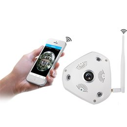 Wholesale Eye Camera Wireless - IP Camera Wifi 1280*960 130w 300W px Support 32G Storage 3pcs IR LED IP Camera with Overall Fish-Eye Lens RH-HS-VR360