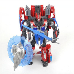 Wholesale New Hasbro Toy - toys optimus prime toy 2016 new hasbro toy baby boys deformation robot kids gifts Movie 4 anime figures leader-level model toy