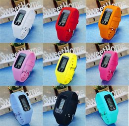 Wholesale Lcd Run Step Pedometer - Digital LCD Pedometer Smart Multi Watch silicone Run Step Walking Distance Calorie Counter Watch Electronic Bracelet Colors Pedometers M0988
