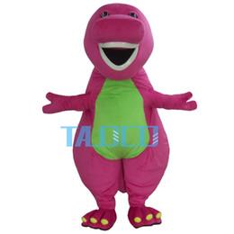 Wholesale Adult Barney Mascot - Best Barney Dinosaur Mascot Costume Cartoon Party Dress Adult Free Shipping