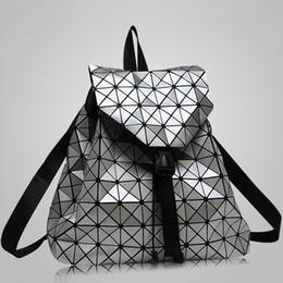 Wholesale Diamond Black String - Wholesale-New Fashion Diamond Lattice BaoBao Bag Backpack Geometric Teenage Women Bag daypack Geometric Joint Rucksack Girls School bag
