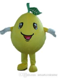 Wholesale Tangerine Costume - SX0725 With one mini fan inside the head a yellow tangerine mascot costume for adult to wear
