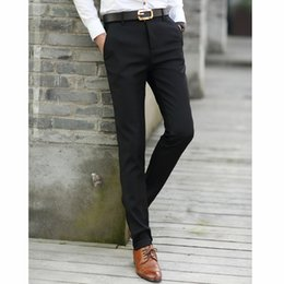 Wholesale Man Western Style Suits - Wholesale-2016 summer shipping! men suit pants male straight western style trousers casual pants men