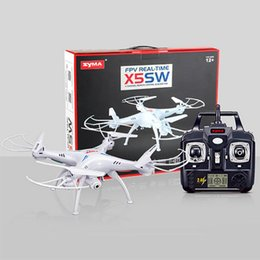 Wholesale Axis Cards - New Version SYMA X5SW 2.4GHz 4CH HD FPV Camera 6 Axis RC Helicopter Quadcopter Gyro 2GB TF Card with 2MP Camera RM475