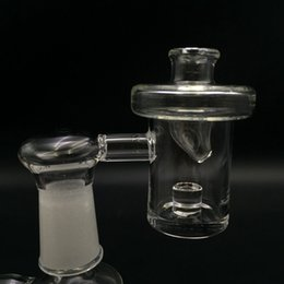 Wholesale Glass Bowl Sets - New Flat Top Reactor Core Quartz Banger Nail Set 25mm Bowl 4mm Bottom With Free Glass Carb Cap for Glass Bongs Dab Rig