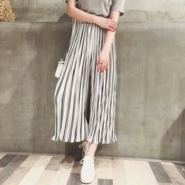 Wholesale Wide Leg Chiffon Pants - Summer New arrive dress Women's colthing Loose Trousers Chiffon Pants Big yards pants Nine pant Wide leg pants fashion