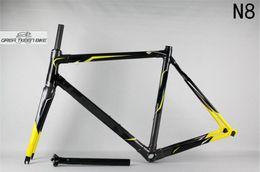 Wholesale Bicycle Frame Bmx - Carbon fiber T800 road bicycle Frame DCRF03 N8 high performance fashional frameset 135*9mm