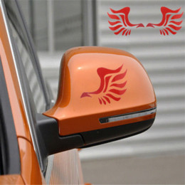 Wholesale Car Body Designs - Dependable Fashion Wing Design 3D Decoration Sticker For Car Side Mirror Rearviewe Ma18 Cheap sticker mercedes