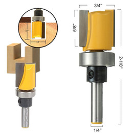 Wholesale Trimming Wood - New 1 4 Inch Shank Hinge Mortise Template Router Bit Drill Bit For Solid Wood 1 4'' Handle Wood Drilling Trimming Tools