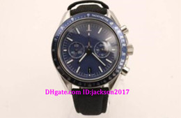 Wholesale Dark Seas - New style luxury mens sports watches chronometer blue sea watch dark side of the moon stainless steel 44mm wristwatch