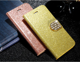 Wholesale Iphone Flip Diamond - Glitter Bling Diamond Flip PU Leather Wallet Case for Sony Z5 Z3 Mini M4 with Stand Holder Card Slot