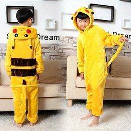 Wholesale Children S Christmas Pyjamas - 20pcs Pikachu Outfit Pajamas Cosplay Costume Pyjamas Onesies child Adult RomperCostume have Size Adult S M L XL Please Check Below siz