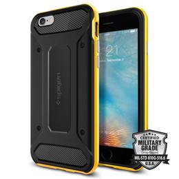 Canada Cas de téléphone portable de spigen de SGP pour l'iPhone 5 / 5s 6 / 6s 6s plus 7 7plus samsung s8 s8plus s7 s7edge Cas de s6edge Neo hybride de carbone Offre