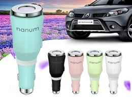 Wholesale Usb Chager - For Iphone X USB Car Chager Nanum Humidifier Arom Charger Battery Chagrer Essential Oil Diffuser DHL Free Shipping