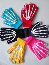 Wholesale Cartoon Hand Warmer - 2017 Christmas cartoon gloves winter skull Bone hand claw cartoon gloves multi-function touch-screen glove knitting Paul warm gloves