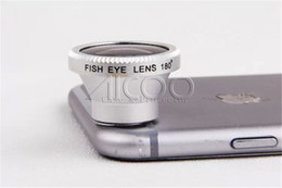 Wholesale Cell Fish - Magnetic 180Degree Cell Phone fish eye camera photo Lens for iPhone SE 5 5S 6 6S Plus Samsung Galaxy S7 S6 Edge Plus fisheye