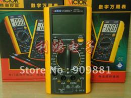Wholesale Digital Multimeter Large Lcd - Large LCD Digital DMM Multimeter Ohm Voltmeter VICTOR VC890C+ True RMS Multimeter 2000UF Capacitor Temperature Measurement Meter