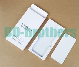 Wholesale Wholesale Filler Paper - Wihte Paper Box + EVA Filler Case for iPhone 4 5 6 4.7 5.5 and Samsung Phone LCD Screen Digitizer Protective Package Full Set 500sets lot
