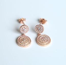 Wholesale Dangle Thread Earrings - 100% 925 sterling silver earring dangle pendant wing flower earrings for pandora style thread charms bead pattern women earring jewelry