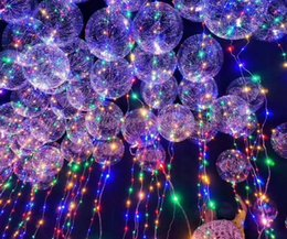 Wholesale Balloons For Halloween - Dreamy bobo ball wave BOBO Balloon with colored light led balloon for Christmas Halloween Wedding Party children home Decorations