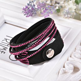 Wholesale Christmas Wrap Sold Wholesalers - Hot Selling Fashion 12 Layer Leather Bracelet Rhinestone Slake Charm Bracelets Wrap Wristband Cuff Punk Bangles