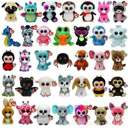 Wholesale Video Games Simulation - TY beanie boos Plush Toys simulation animal TY Stuffed Animals super soft 6inch 15cm with tag children toys free shipping EMS