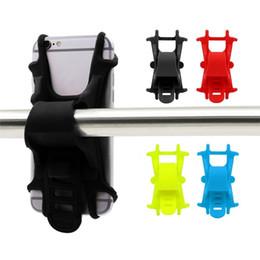 Wholesale Color Bike Handlebars - Anti-Slip Bike Phone Holder Bicycle Handlebar Mount Elastic Durable Silicone Band Bicycle Cycling Clip CellPhone Bracket