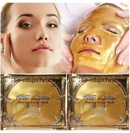 Wholesale Beauty Control Products - Gold Bio-Collagen Facial Mask Face Mask Crystal Gold Powder Collagen Facial Masks Moisturizing Anti-aging Masks & Peels beauty products