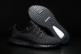 Wholesale Cheap Drop Boxes - 2017 Cheap new Kanye West 350 Boost Pirate Black Womens Mens Sports Running Shoes Sneakers Women shoe Size 36-45 Drop Free Shipping with box